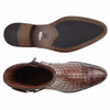 Belvedere Libero Maple  Caiman Crocodile and Quilted Leather Boots