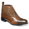 Stacy Adams Madison Brown and Scotch Leather & Suede Ankle Boots