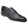 Belvedere Chapo Black Genuine Crocodile Men's Oxfords
