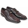 Belvedere Chapo Brown Genuine Crocodile Men's Oxfords