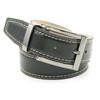 Avanti Black Italian Leather Lizard Print Dress Belt