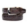 Belvedere Brown Genuine Crocodile Dress Belt