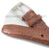 Belvedere Camel Genuine Crocodile Dress Belt