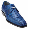 Belvedere Colombo Ocean Blue Genuine Hornback Tail Men's Derbys