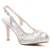Lady Couture Spicy Silver Embellished Fabric Dress Pumps
