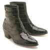 Los Altos Black Eel Dress Zipper Boot