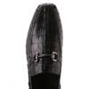 Black Genuine Caiman Crocodile Belly Slip On By Los Altos