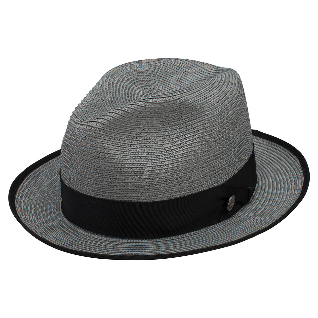 d8a678932a4 Stetson Latte Gray Florentine Milan Firm Finish Straw Hat