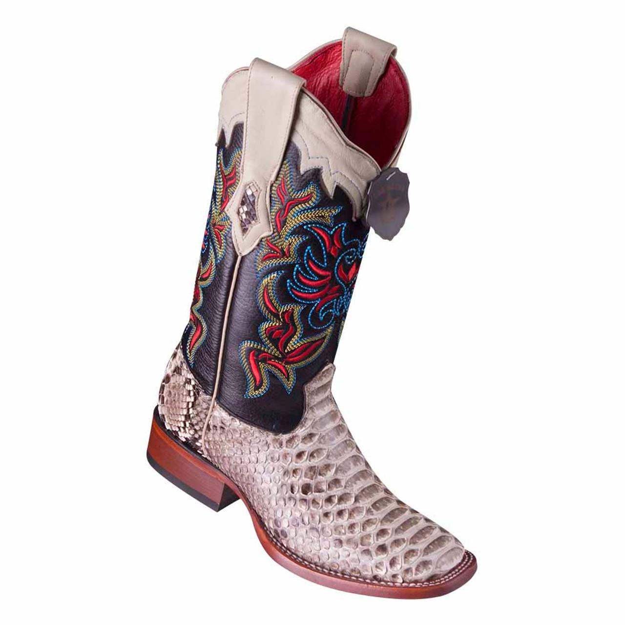 cb6805520ce Los Altos Natural Python Square Toe Women's Western Boot