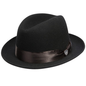Dobbs Boulevard Black Felt Men's Fedora Hat