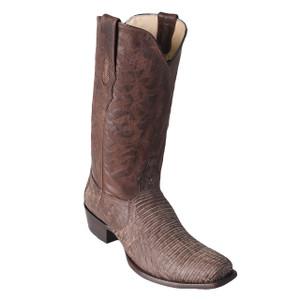 Los Altos Brown Teju Lizard High-top Boots