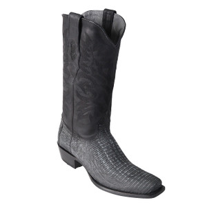 Los Altos Black Teju Lizard High-top Boots