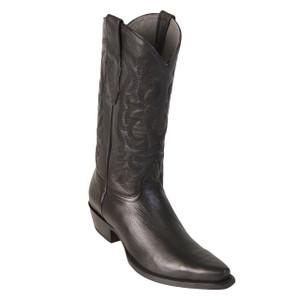 Los Altos Black Deer Leather Snip Toe Boots