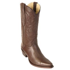 Los Altos Brown Deer Leather Snip Toe Boots