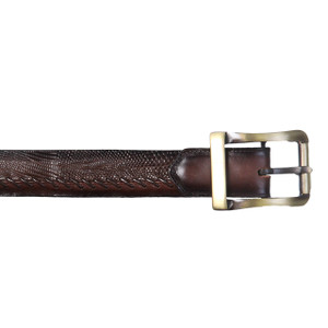 Los Altos Brown Genuine Teju Lizard Belt