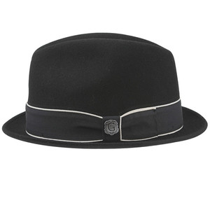 Bigalli Downtown Black Wool Felt Hat