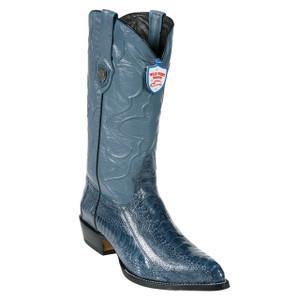 Wild West Blue Jean Ostrich Paw J-toe Boots