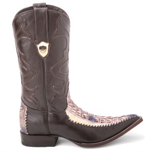 Wild West Natural Genuine Caiman Tail Boots