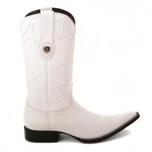 Wild West White Genuine Shark Skin Boots