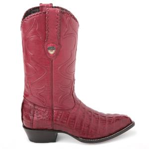 Wild West Burgundy Genuine Caiman Boots