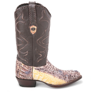Wild West Natural Genuine Caiman Boots