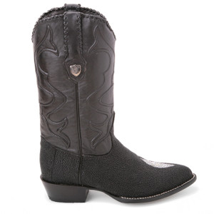 Wild West Black Genuine Stingray Boots