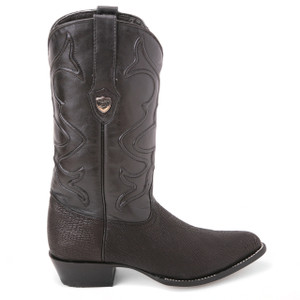 Wild West Black Genuine Shark Skin Western Boots