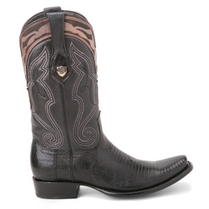 Wild West Black Genuine Lizard Skin Boots