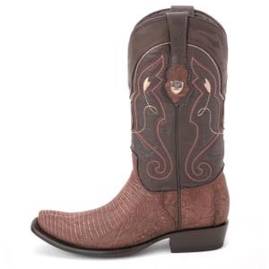 Wild West Brown Genuine Lizardskin Boots