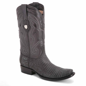 Wild West Black Genuine Lizardskin Boots