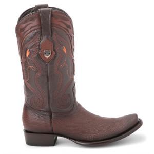 Wild West Brown Genuine Sharkskin Boots