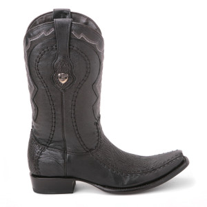 Wild West Black Genuine Shark Skin Boots