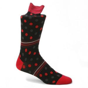 Tallia Red & Blue Printed Socks