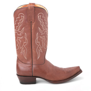 King Exotic Cognac Genuine Leather Boots