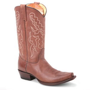These honey brown boots from King Exotic are going to be your favorite. It is made of genuine leather, has a snip toe profile, and an embroidered shaft.