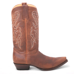 King Exotic Walnut Rage Brown Genuine Leather Boots