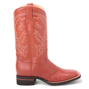 King Exotic Cognac Genuine Lizard Boots