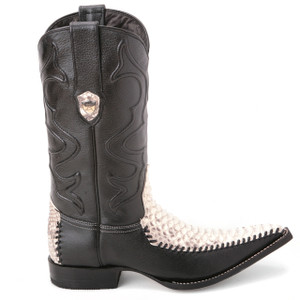Wild West Natural Genuine Python Skin Boots