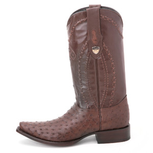 Wild West Brown Full Quill Ostrich Boots
