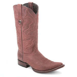 These genuine leather boots in brown from the house of Wild West and sturdy and refined. They feature a 13-inch high patterned leather shaft and a 3x-toe.