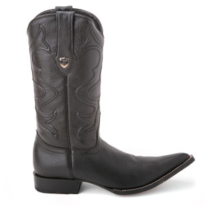Wild West Black Genuine Elk Leather Boots