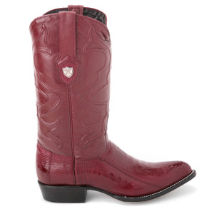 Wild West Burgundy Genuine Ostrich Skin Boots