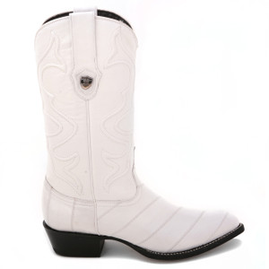 Wild West White Genuine Eelskin Boots