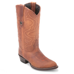 Be your best with these genuine rage leather boots in brown from the house of Wild West. The pair has an exotic composition and features a stylish J-toe.