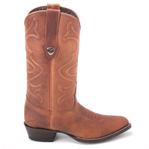 Wild West Desert Brown Genuine Leather Boots