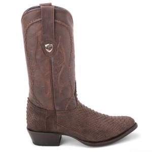 Wild West Brown & Black Nubuk Finish Python Boots