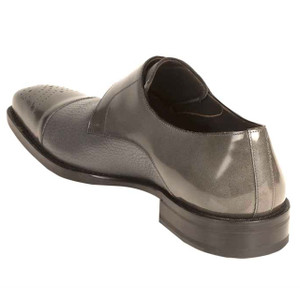 Phoenix Grey Genuine Deerskin Monkstraps by Mezlan