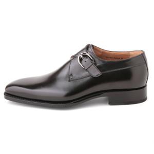 Ugo Vasare Edward Black Genuine Leather Monkstraps