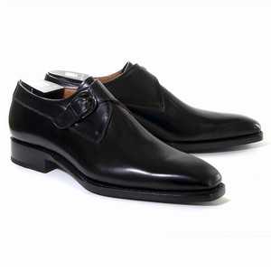 Ugo Vasare Edward Black Genuine Leather Monkstraps