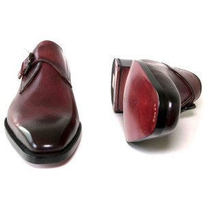 Ugo Vasare Edward Burgundy Genuine Leather Monkstraps